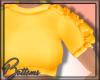 ß Ruffle Top |Yellow