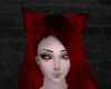 Dark Red Anime Ears