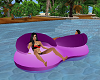 Double Seat Pool Float