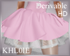 K  derv add  pink skirt