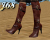 J68 Brown Buckle Boots