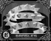 e| Spiked Bangles: White