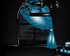 blue pvc window