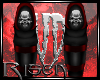 R: Skull Shin Guards Red