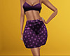 Dark Purple Pajama Short