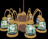 Brass Cafe Chandelier