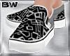 Black Grid Slip On Shoes