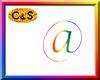 C&S Rainbow Arobase Sign