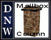 NW Mailbox Column
