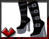 (V) Goth Black Platforms