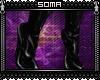 `x: PVC Boots: Black