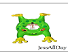 froggy float  5 poses