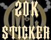 20K Sticker