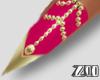 [zuv]pink gold nails