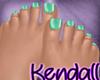 *KT* Feet Silky Green