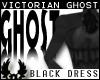 -�p Ghostly Black Dress