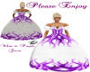 White & Purple Gown