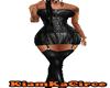 Vestido cuero negro RL