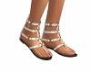 Gladiator Sandals White