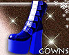 Shiny Boots Blue