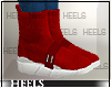 !H! SockSneakrs Red