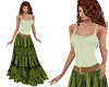 TF* BOHO Top & Skirt grn