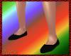 Medieval black flat shoe