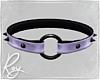 Purple Satin Collar