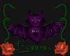Purple bat sticker