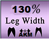 Leg Width 130%