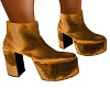70'S GOLD PLATFORM SHOES