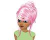 Pink xmas girls hair