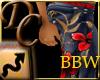 Flower Tat Jeans - BBW