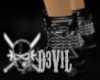 chained iron cross boots