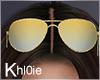 K gold sunglasses up