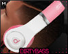 !B White Pink Headphones