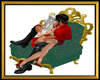Royal Green Kiss Chair