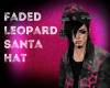 Faded Leopard Santa Hat