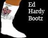 ed hardy white bootz