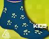 Paw pajama socks