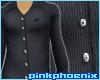 Black Pin Stripe no Tie
