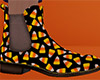 Candy Corn Ankle Boots M