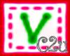 C2u Letter V Sticker