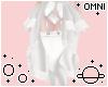 O | White Ruffle Skirt
