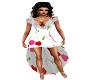 Cherry lace hi low dress