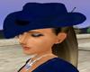 **SA71**Blue cowgirl hat