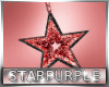 Red Star Earrings