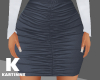 Navy Blue Frowned Skirt