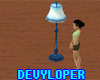 Blue Club Lamp