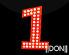1 Letters Holloween Neon